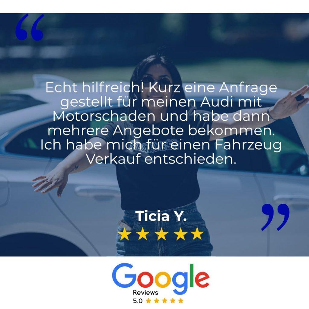 Google Bewertung mit Getriebeschaden
